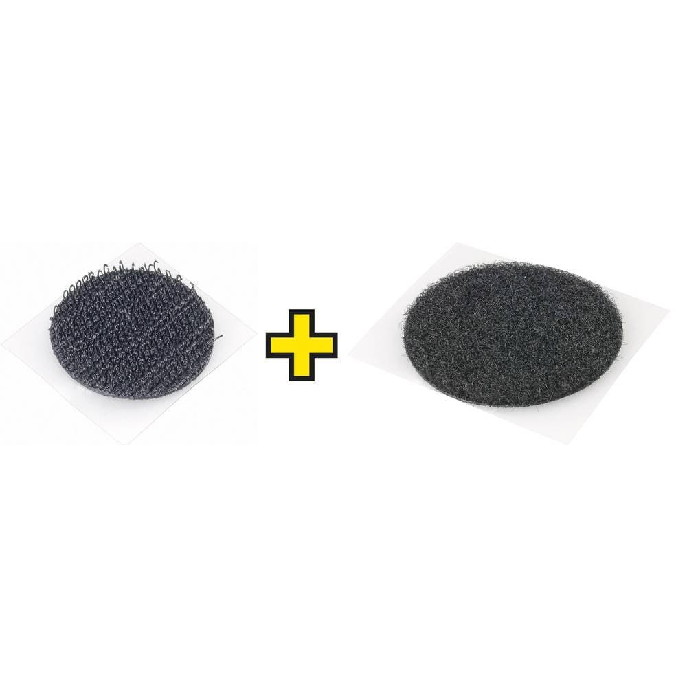 Sprijemalne točke za lepljenje Fastech, sprijemalni in mehak del, črne barve, 1 par