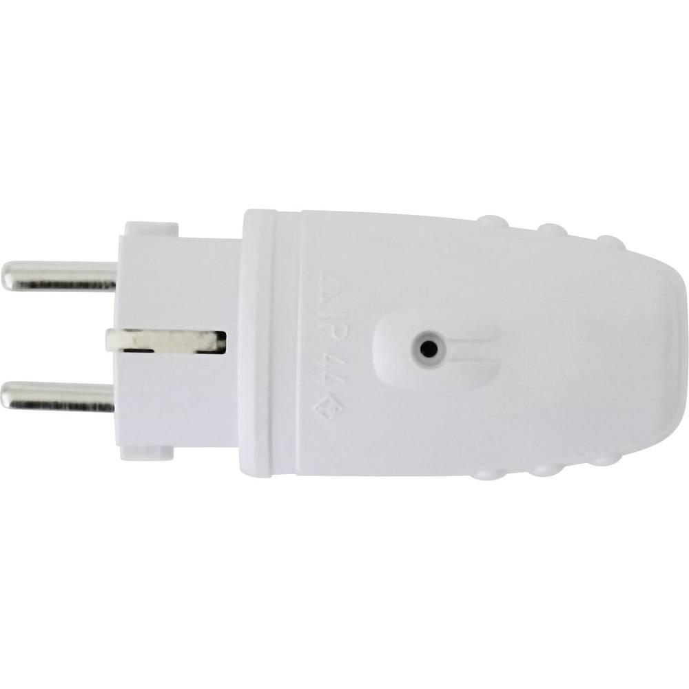 Utikač sa sigurnosnim kontaktom, gumeni, svijetlo sivi 0172