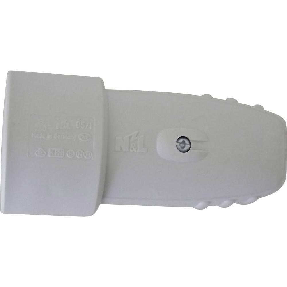 Električna instalacija Spojnikz varnostnim kontaktom, gumijast, svetlo siv Svetlo siva 0177