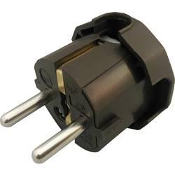 Schutzkontakt-Winkelstecker (value.1291862) Plast 230 V Brun IP20 GAO 624438