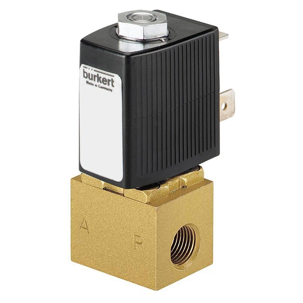 2/2-razvodni ventil s izravnim upravljanjem Bürkert 163503 24 V/DC G 1/8 nazivna širina 2 mm kućište od mjeda, brtveni materijal
