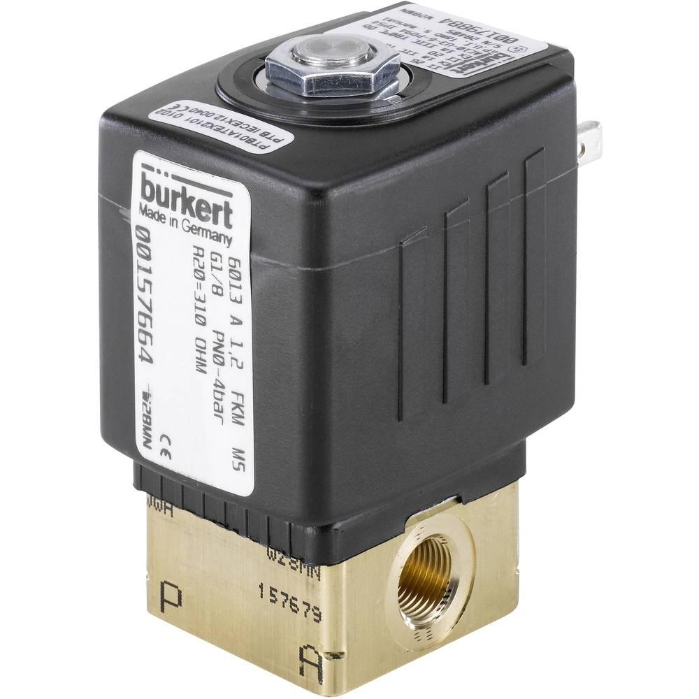 2/2-razvodni ventil s izravnim upravljanjem Bürkert 125302 24 V/AC G 1/4 nazivna širina 3 mm kućište od mjeda, brtveni materijal