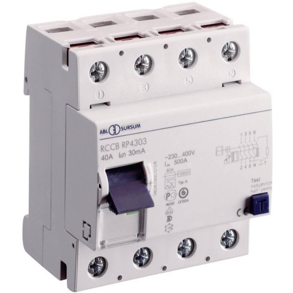 FI-sikkerhedsafbryder 4-polet 40 A 0.03 A 400 V ABL Sursum 5013