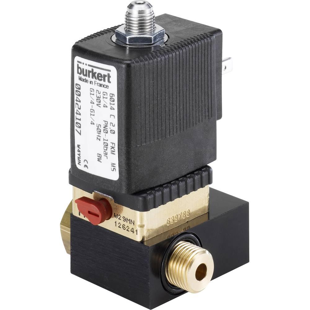 3/2-smerni ventil z direktnim krmiljenjem Bürkert 424107 230 V/AC G 1/4 nazivna širina 2 mm ohišje iz medenine, tesnilni materia