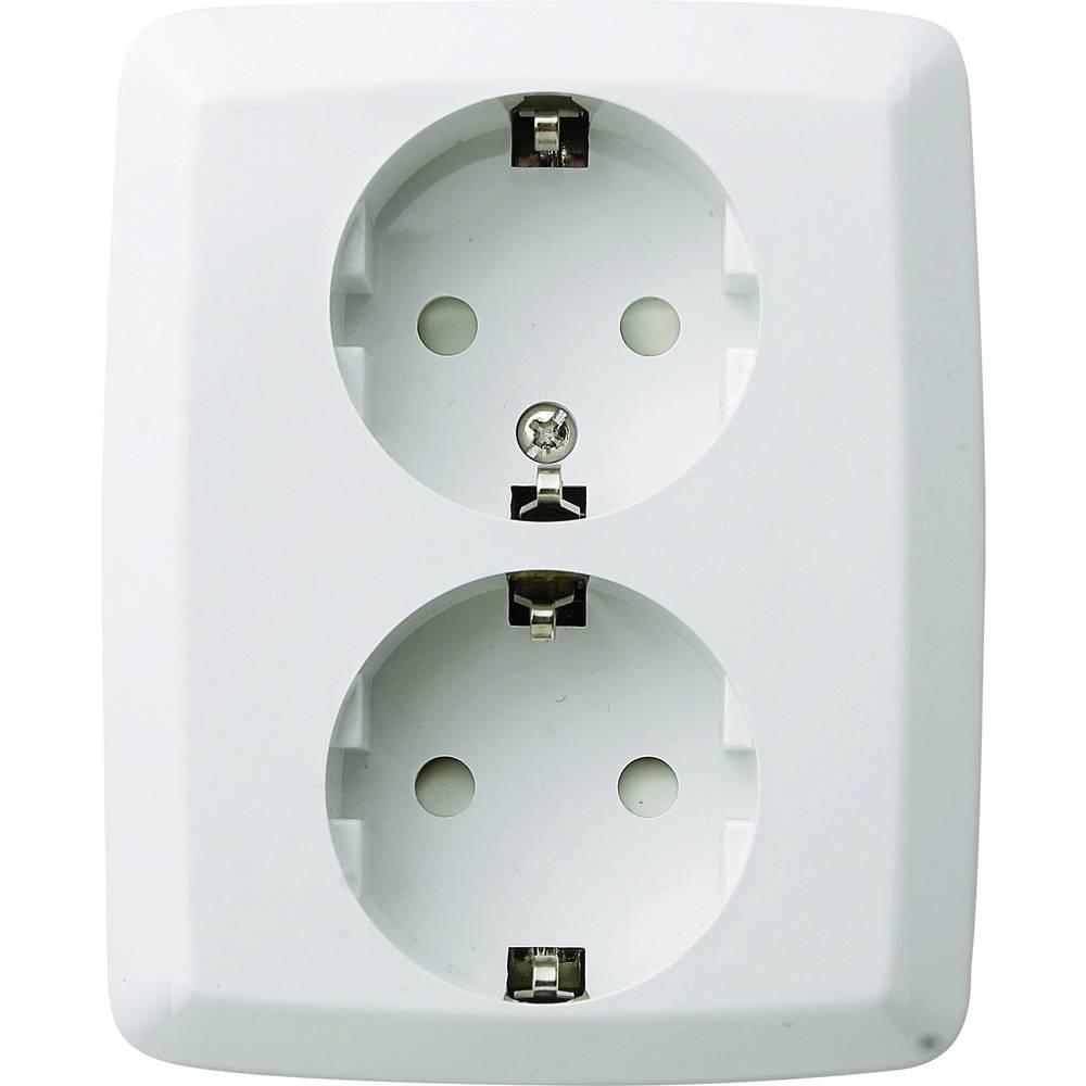 GAO UP varnostna vtičnica 2-delna, bele barve 16 A 250 V/AC