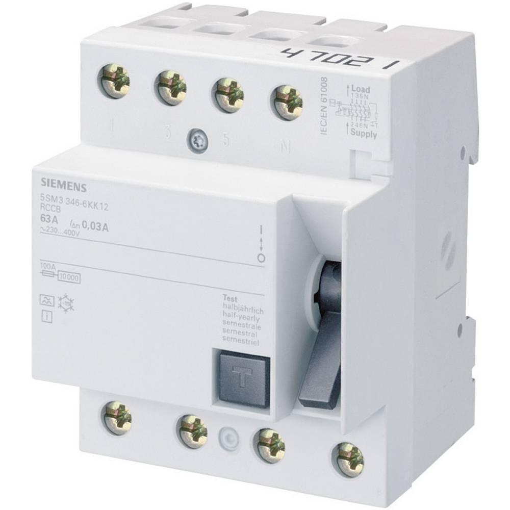 FI-sikkerhedsafbryder 4-polet 63 A 0.03 A 400 V Siemens 5SM33466KK12