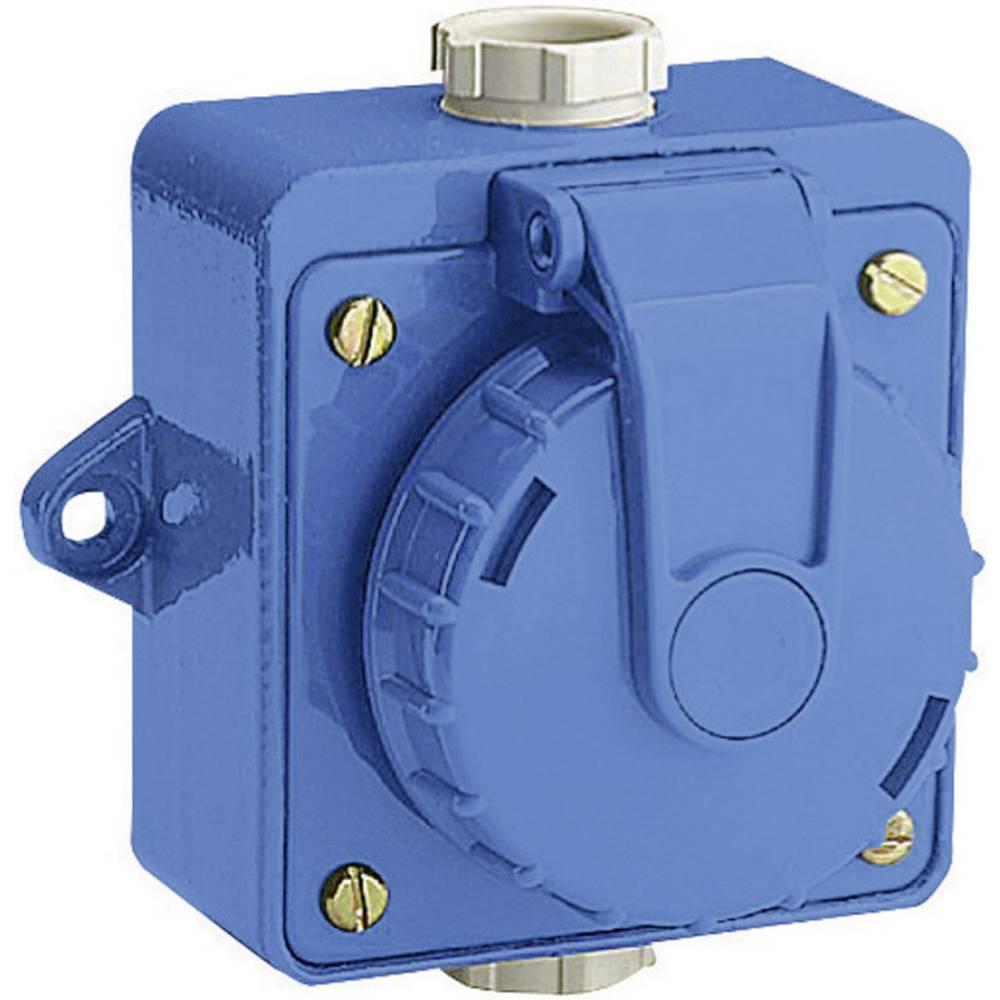 Nadometna vtičnica, neprepustna za vodo pod pritiskom, 230 V/AC, 16 A, IP68, modra 197.7751