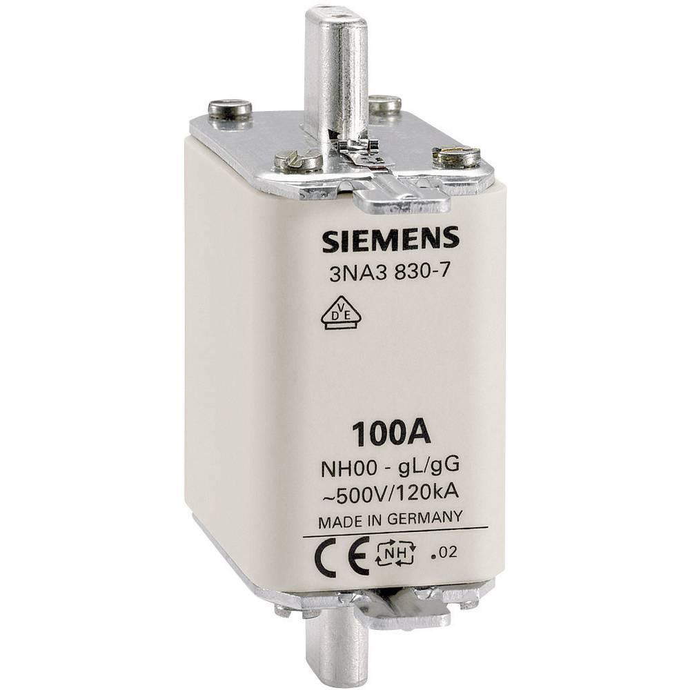 Nizkonapetostna močnostna varovalka, velikost varovalke = 000 100 A 500 V/AC, 250 V/AC Siemens 3NA3830