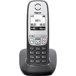 brezžični analogni telefon Gigaset A415 osvetljen zaslon črna, srebrna S30852-H2505-B101