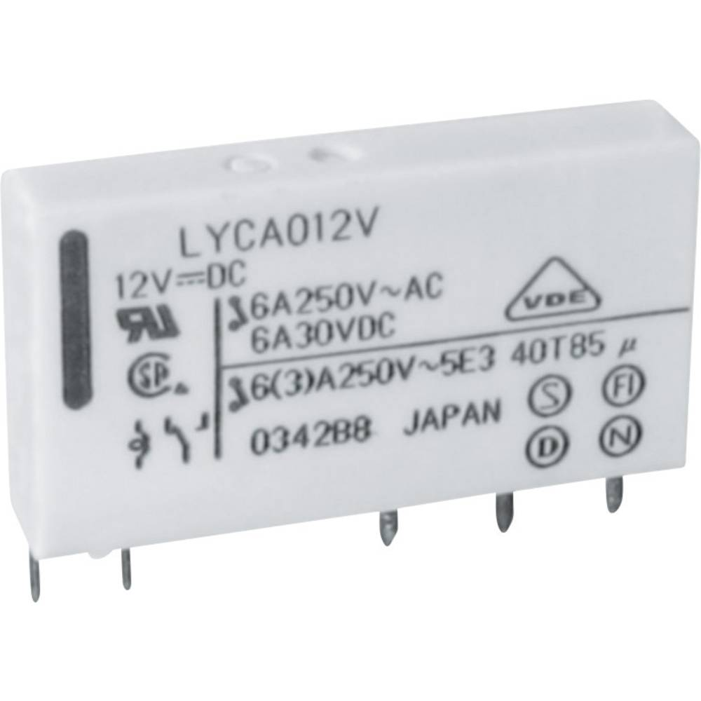Omrežni rele FTR-LY Fujitsu FTR-LYAA012V 12 V/DC 1 zapiralo 6 A 250 V/AC 1500 VA/ 144 W