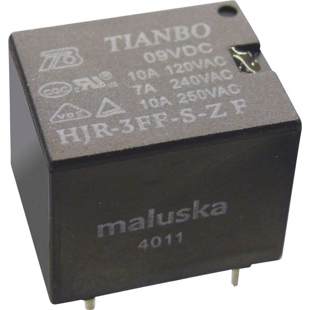 Printrelæ 12 V/DC 15 A 1 x skiftekontakt Tianbo Electronics HJR-3FF-12VDC-S-ZF 1 stk