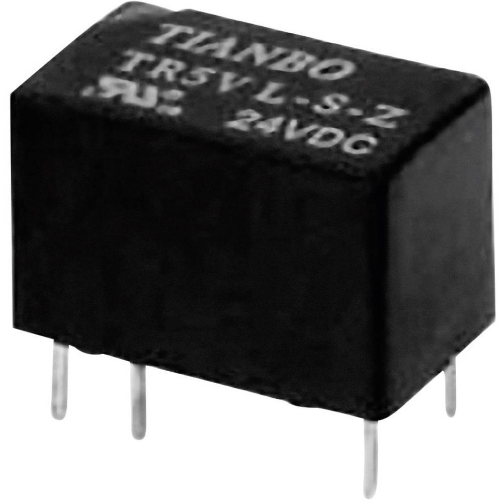 Printrelais (value.1292897) 5 V/DC 2 A 1 Wechsler (value.1345271) Tianbo Electronics TR5V-M-05VDC-S-Z 1 stk