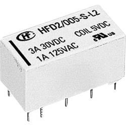 Miniaturni rele HFD2 HFD2/005-S-D 5 V/DC 2 preklopni maks.. 3 A maks. 220 V/DC/ 250 V/AC maks. 125 VA/ 90 W
