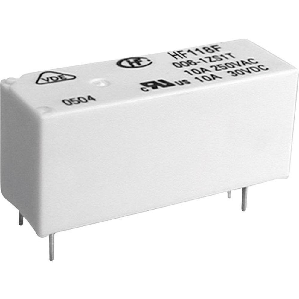 Printrelais (value.1292897) 12 V/DC 8 A 1 Wechsler (value.1345271) Hongfa HF118F/012-1ZS1(136) 1 stk
