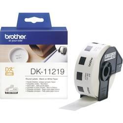 Brother trak za nalepke DK-11219, DK11219, 1200 okroglih nalepk (12 mm), bel, za QL Tiskalnike