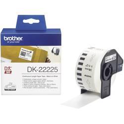 Brother Trak za nalepke DK-22225, DK22225, neskončni etiketni papir (38 mm x 30,48 m), bele barve, za QL tiskalnike