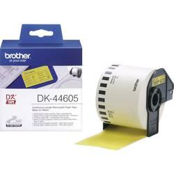 Brother Trak za nalepke DK-44205, neskončen, odstranljiv etiketni papir (62 mm x 30,48 m), rumen, za QL-etikete DK44605