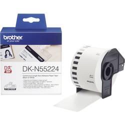 Trak za nalepke Brother DK-N55224, DKN55224, neprekinjen nesamolepilni etiketni papir (54 mm x 30,48 m), bele barve, za QL-Et