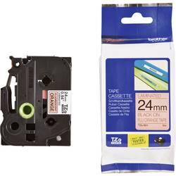 TZe traka za označavanje TZe-B51 Brother boja trake: narančasta boja natpisa: crna 24 mm 5 m