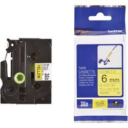 TZe-FX traka za označavanje TZe-FX611 Brother boja trake: žuta boja natpisa: crna 6 mm 8 m