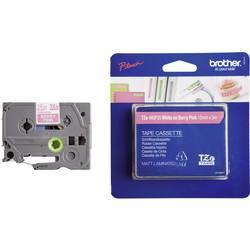 Trak TZe, TZ Brother TZe-MQP35 barva traku: roza barva pisave: bela 12 mm 5 m TZEMQP35