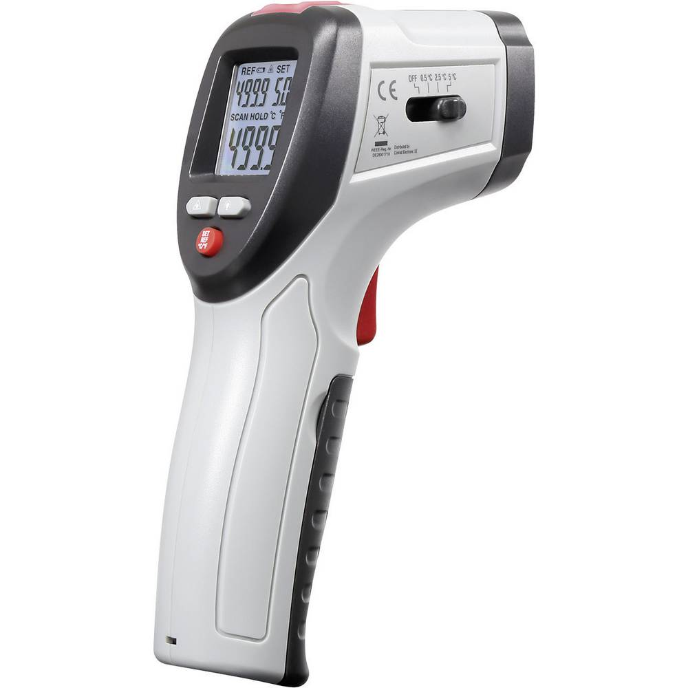 Infrardeči termometer VOLTCRAFT IRF 260-10S optika 10:1 -50 do +260 °C pirometer, kalibracija narejena po: DAkkS