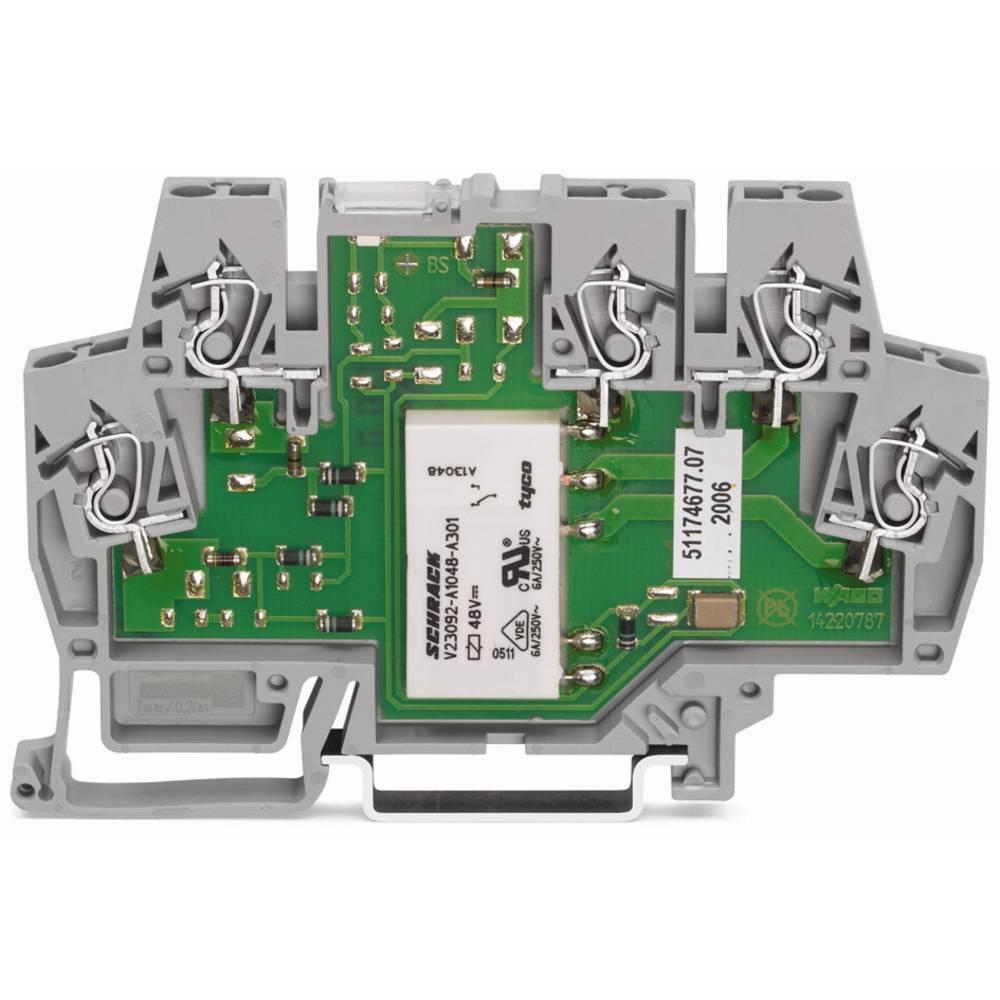 Relaisklemme (value.1470709) 1 stk WAGO 859-354 Nominel spænding: 24 V/DC, 24 V/AC Brydestrøm (max.): 5 A 1 Wechsler (value.1345