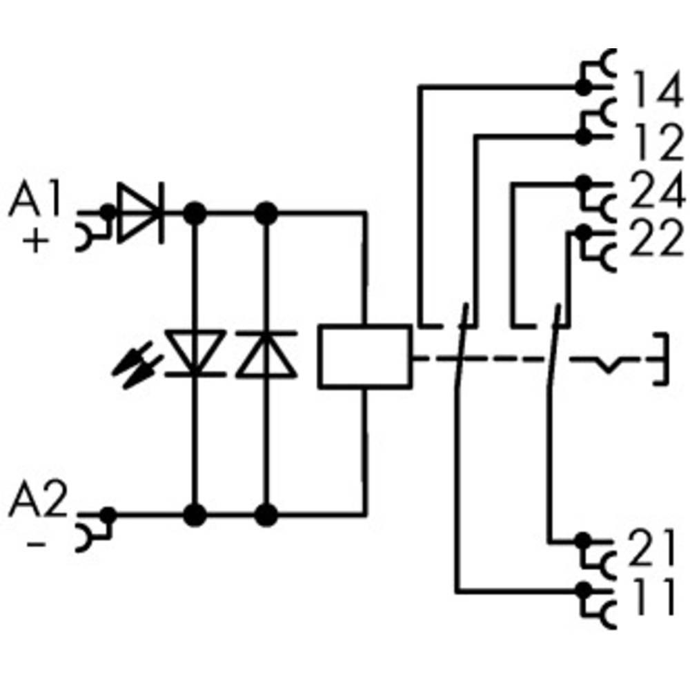 Industrierelais (value.1468820) 1 stk WAGO 789-1346 Nominel spænding: 24 V/DC Brydestrøm (max.): 8 A 2 Wechsler (value.1345274)