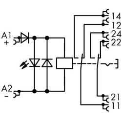 Industrijski relej 1 komad WAGO 789-1346 Nazivni napon: 24 V/DC struja prebacivanja (maks.): 8 A 2 izmjenjivača
