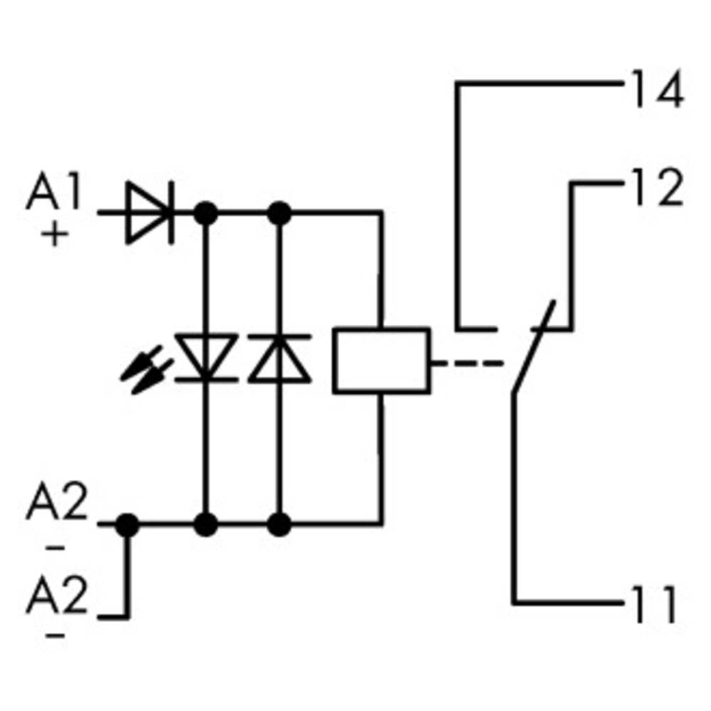 Industrijski rele 1 kos WAGO 789-304 nazivna napetost: 24 V/DC preklopni tok (maks.): 12 A 1 x preklopni