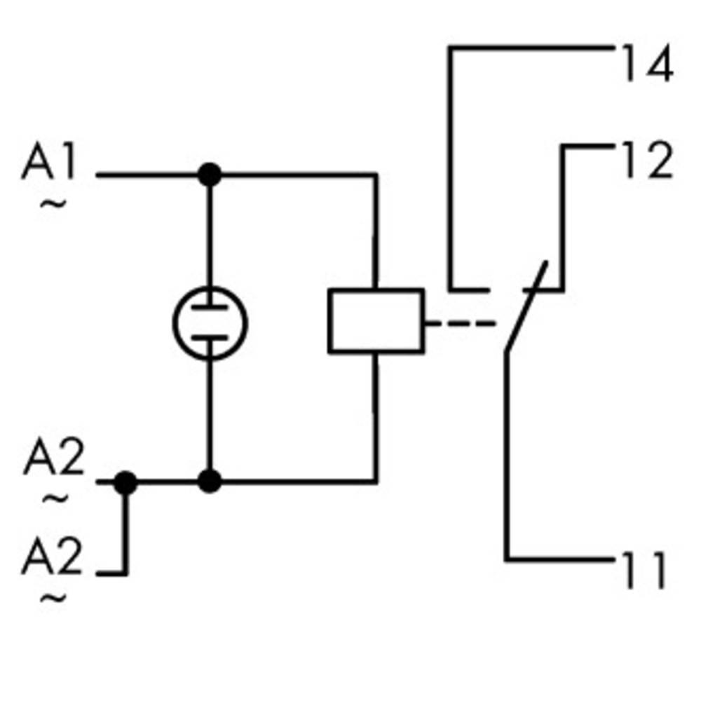 Industrijski rele 1 kos WAGO 789-508 nazivna napetost: 230 V/AC preklopni tok (maks.): 12 A 1 x preklopni