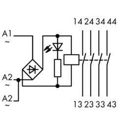 Industrijski relej 1 komad WAGO 789-552 Nazivni napon: 12 V/DC, 12 V/AC struja prebacivanja (maks.): 4 A 4 zatvarač