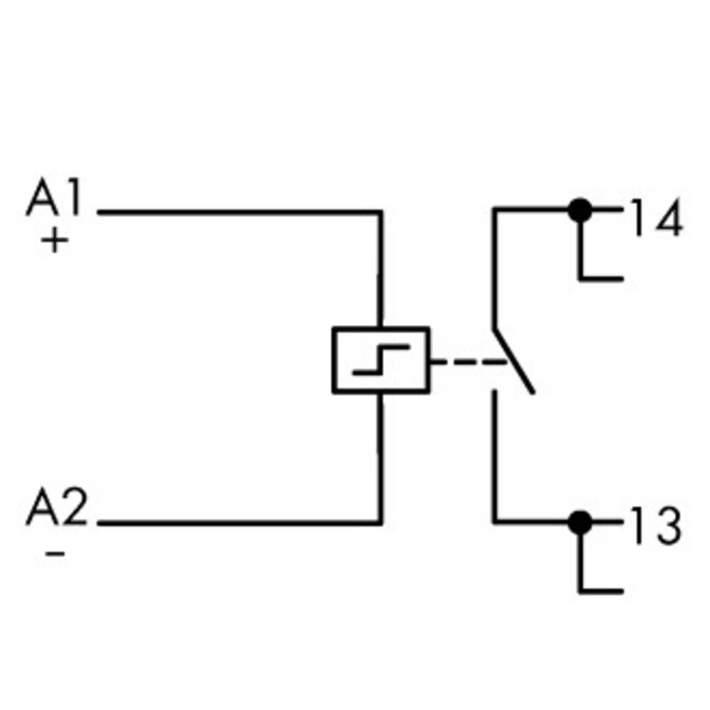 Industrijski rele 1 kos WAGO 789-571 nazivna napetost: 24 V/DC preklopni tok (maks.): 16 A 1 x zapiralni