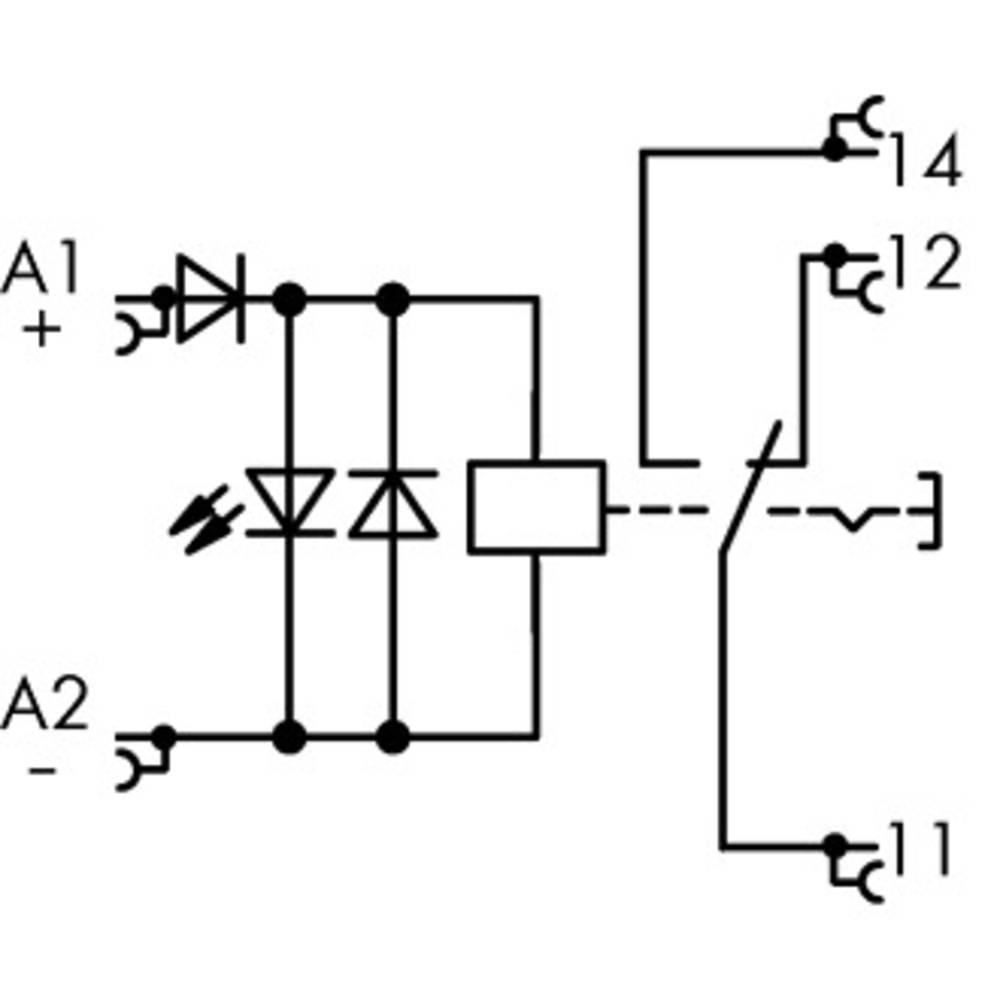 Industrierelais (value.1468820) 1 stk WAGO 789-1341 Nominel spænding: 24 V/DC Brydestrøm (max.): 16 A 1 Wechsler (value.1345271)
