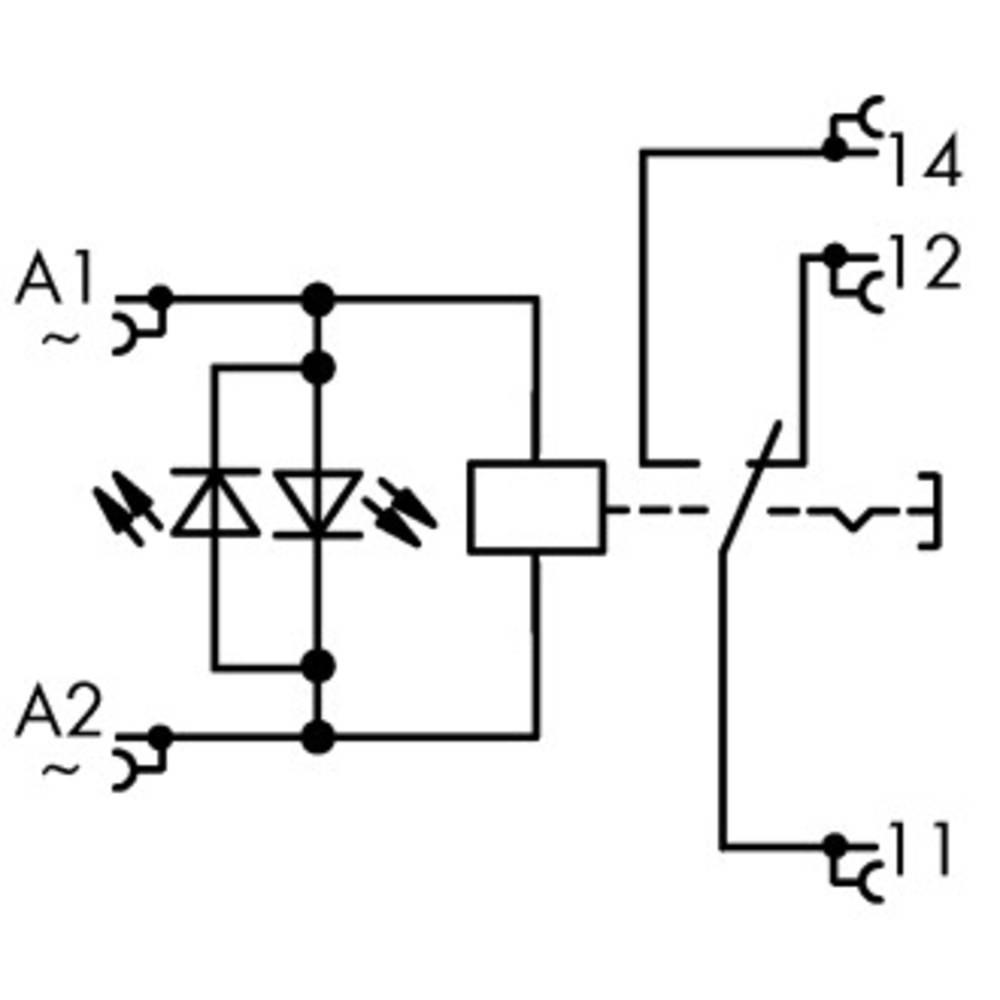 Industrierelais (value.1468820) 1 stk WAGO 789-1544 Nominel spænding: 230 V/AC Brydestrøm (max.): 12 A 1 Wechsler (value.1345271