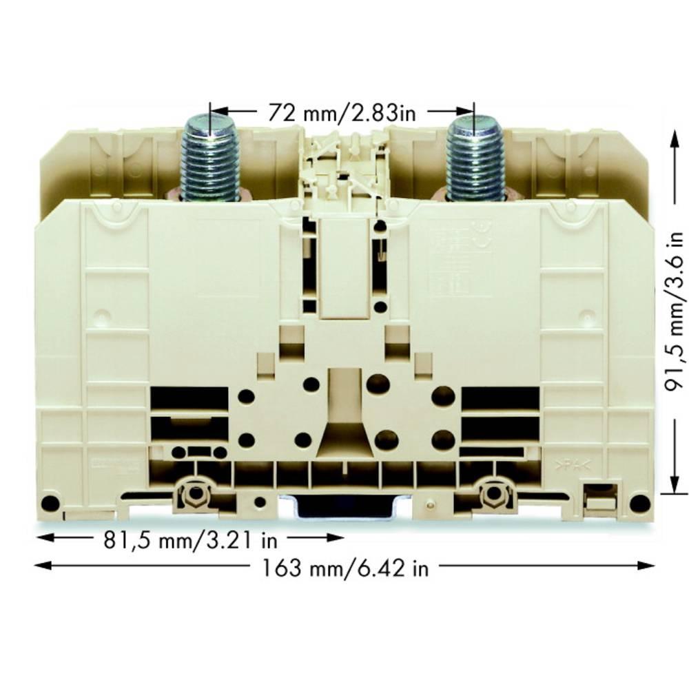 Højstrømsklemme 55 mm Bolttilslutning Grå WAGO 400-490/490-005 1 stk
