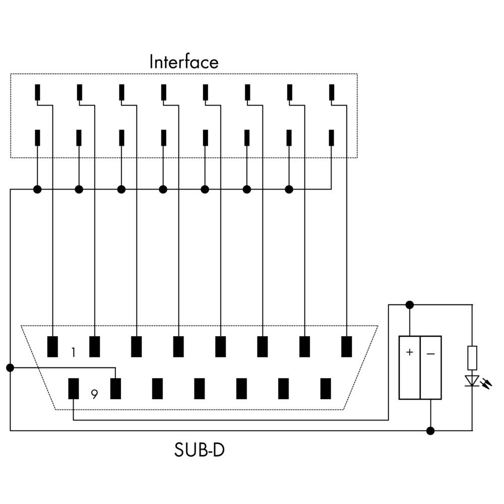 JUMPFLEX®-adapter; z Sub-Min-D-letvijo; vhod, WAGO 857-986 1 kos