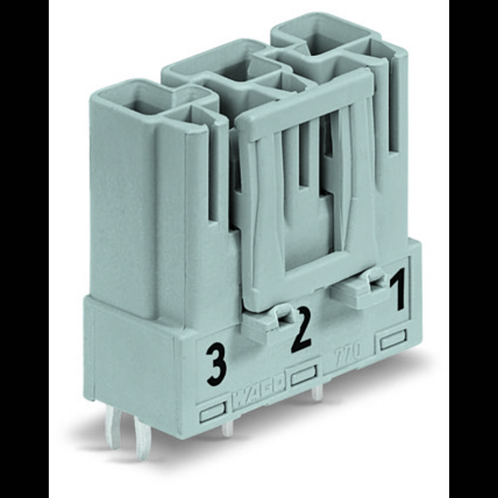 Strømstik Serie (netstik) WINSTA MIDI Stik, indbygning lodret Samlet poltal: 3 25 A Lysegrøn WAGO 100 stk