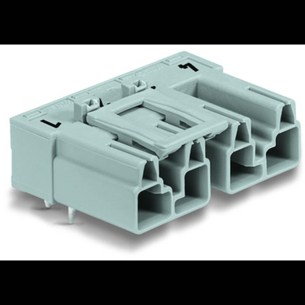 Strømstik Serie (netstik) WINSTA MIDI Stik, indbygning vandret Samlet poltal: 4 25 A Hvid WAGO 50 stk