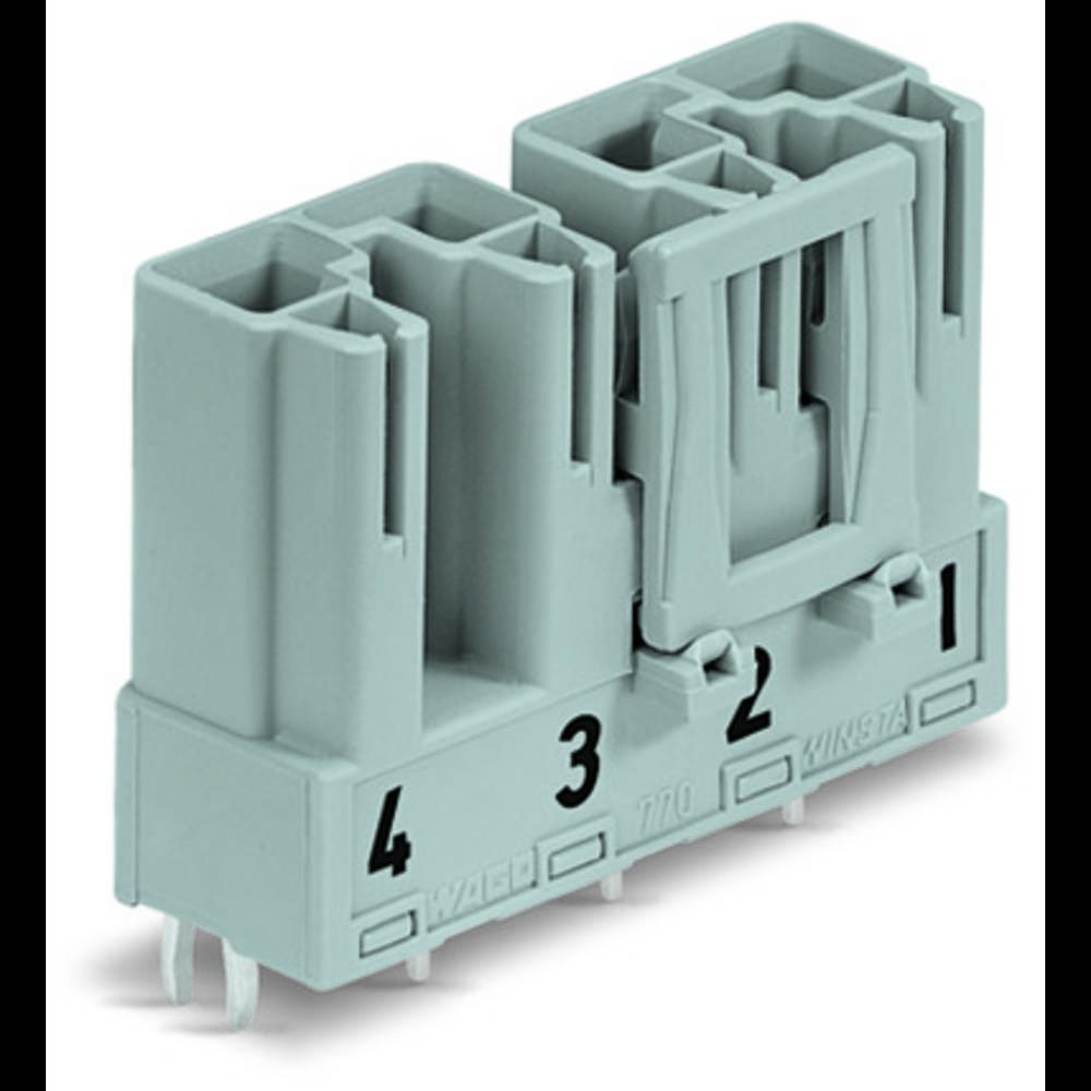 Strømstik Serie (netstik) WINSTA MIDI Stik, indbygning vandret Samlet poltal: 4 25 A Sort WAGO 50 stk