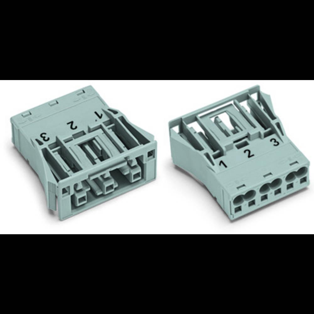 Strømstik WINSTA MIDI Serie (netstik) WINSTA MIDI Tilslutning, lige Samlet poltal: 3 25 A Hvid WAGO 100 stk