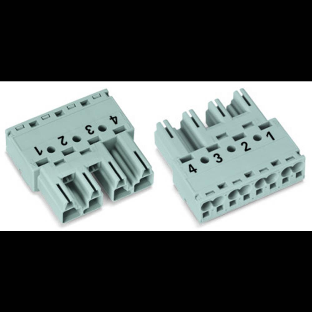 Strømstik Serie (netstik) WINSTA MIDI Stik, lige Samlet poltal: 4 25 A Sort WAGO 50 stk