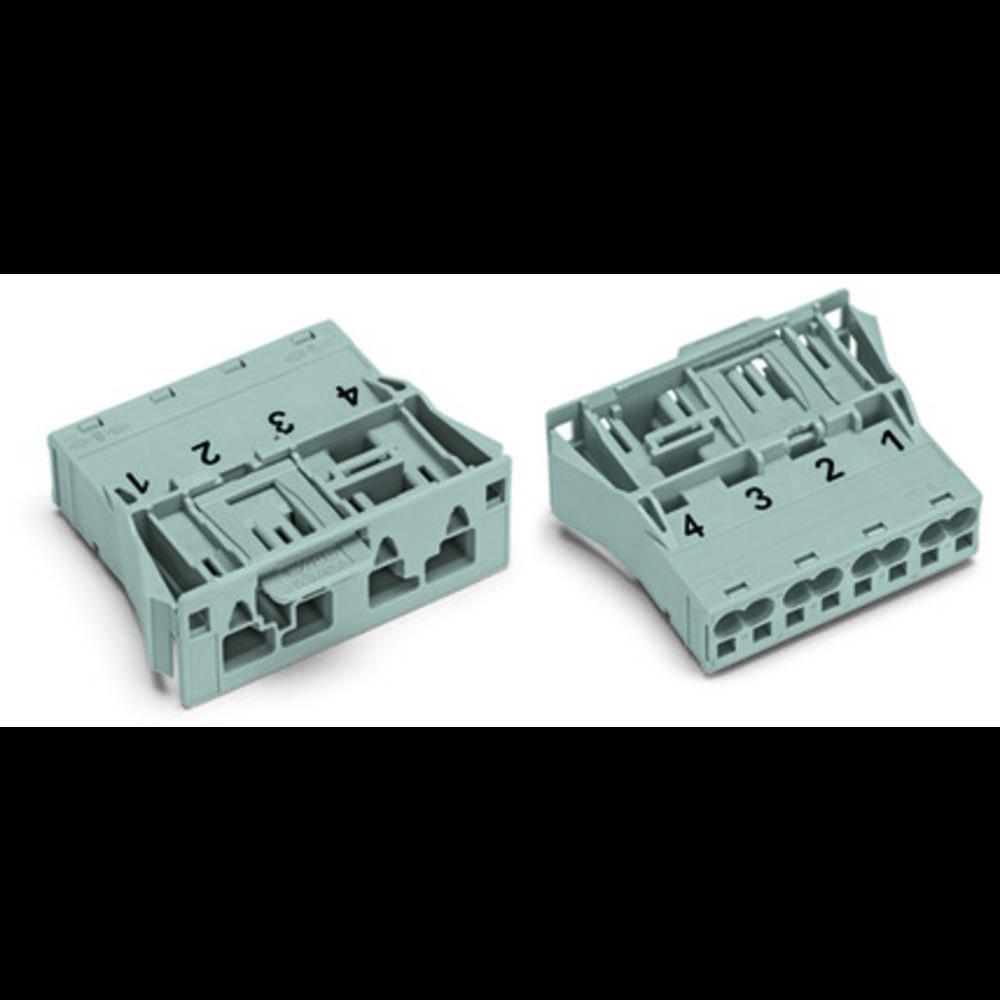 Strømstik WINSTA MIDI Serie (netstik) WINSTA MIDI Stik, lige Samlet poltal: 4 25 A Pink WAGO 100 stk