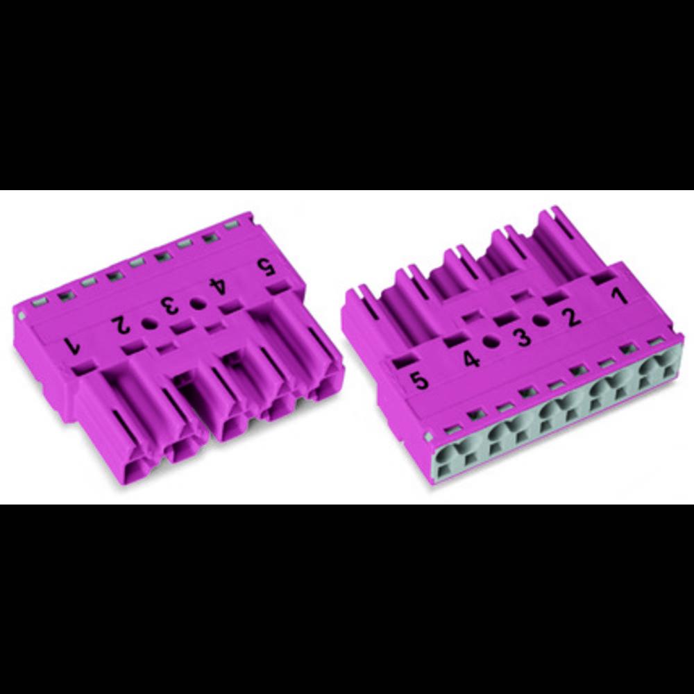 Strømstik Serie (netstik) WINSTA MIDI Stik, lige Samlet poltal: 5 25 A Sort WAGO 50 stk