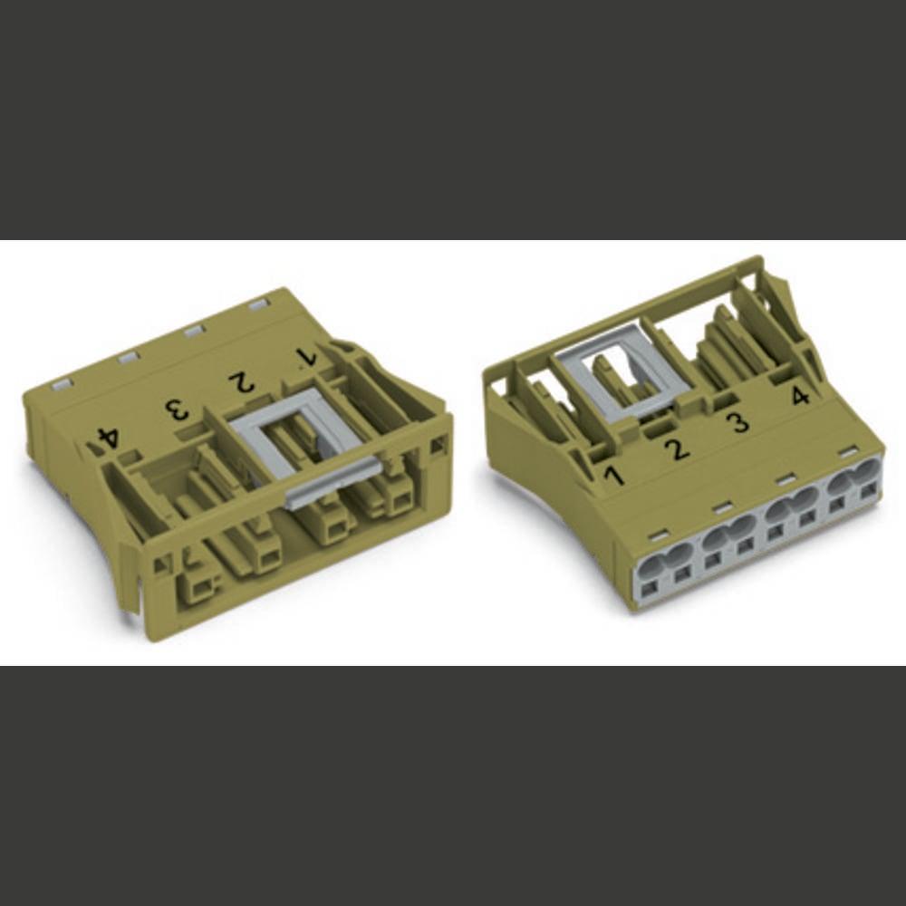 Strømstik WINSTA MIDI Serie (netstik) WINSTA MIDI Tilslutning, lige Samlet poltal: 4 25 A Grå WAGO 100 stk
