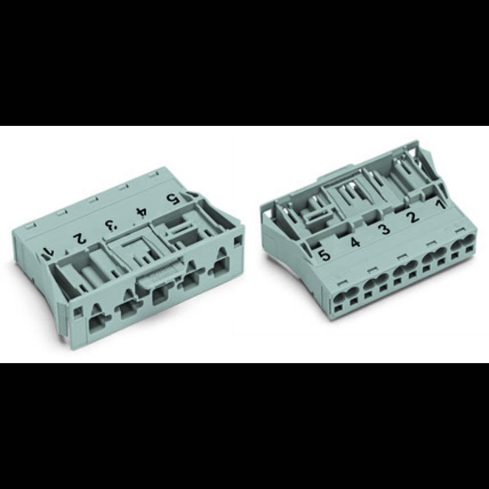 Strømstik Serie (netstik) WINSTA MIDI Stik, lige Samlet poltal: 5 25 A Sort WAGO 100 stk