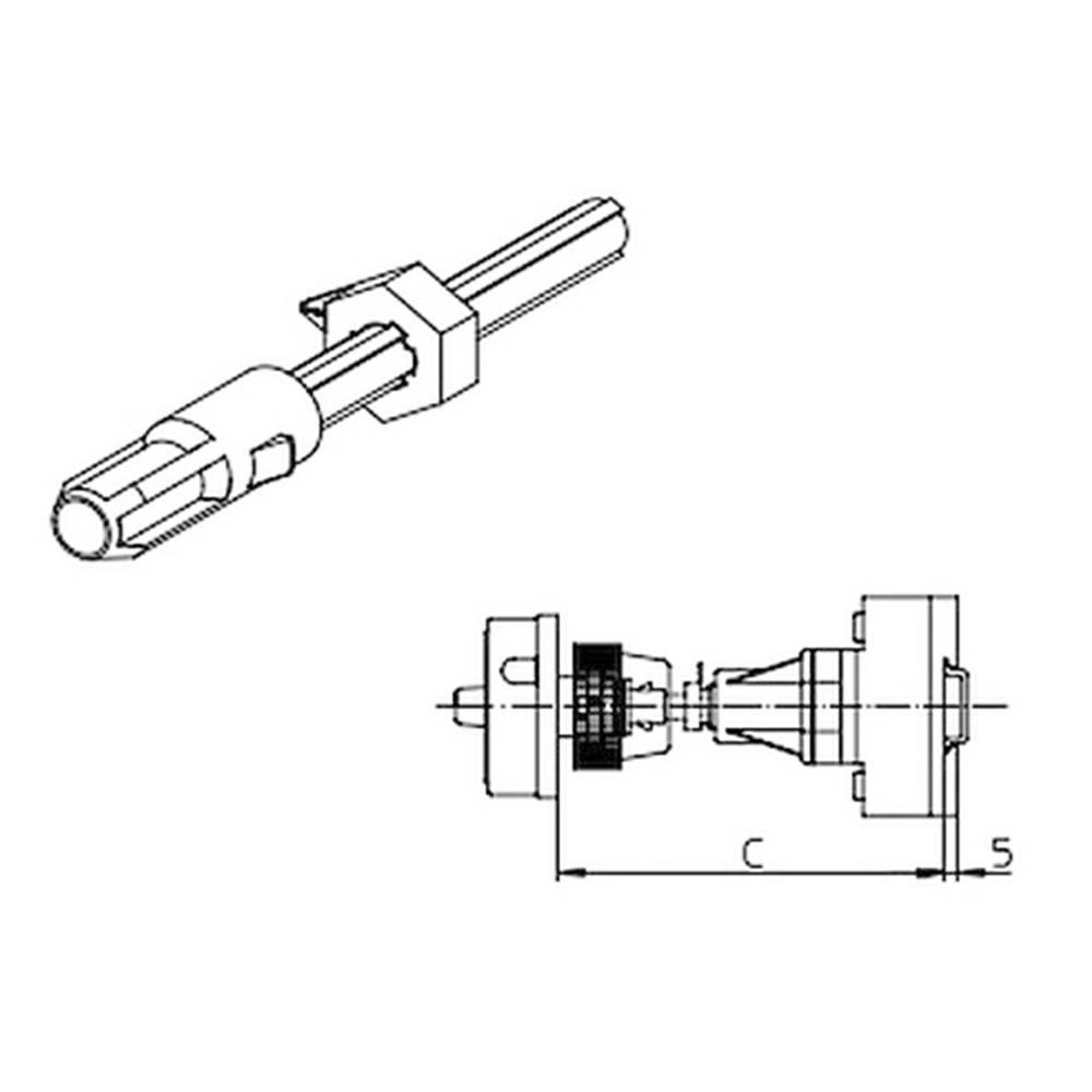 Železna os Sälzer AVA8-290 1 kos