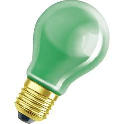 Glödlampa E27 OSRAM E27, 25 W DECOR-GLÜHLAMPE 11 W 10 lm Päronform Grön 1 st