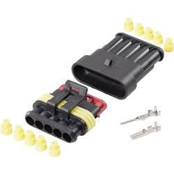 Spojnik - komplet AMP-Superseal 1.5mm skupno št. polov: 5 TE Connectivity raster: 6 mm 1 komplet