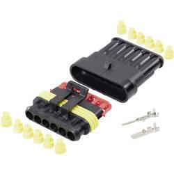 Spojnik - komplet AMP-Superseal 1.5mm skupno št. polov: 6 TE Connectivity raster: 6 mm 1 komplet